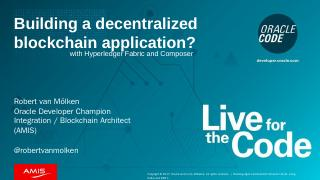 What is a decentralized blockchain applicatio...