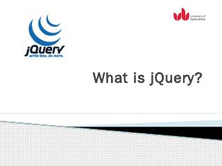 What is jQuery? - bedford-computing.co.uk