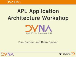 Where Is the Application? - Dyalog