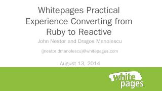 Whitepages Practical Experience Converting fr...
