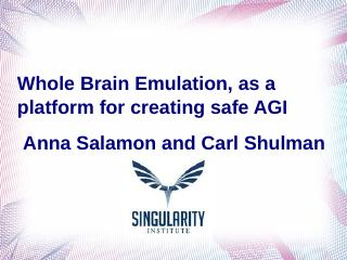 Whole Brain Emulation