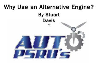 Why an Alternative Engine? - Auto PSRU's
