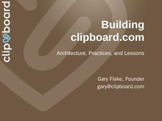 Why Clipboard? - Meetup
