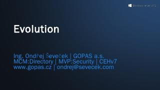 Windows 8 Evolution - Ondrej Sevecek