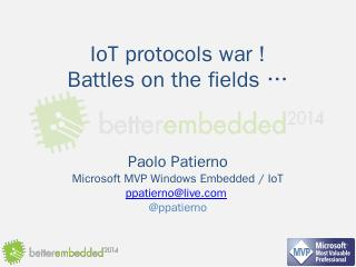Windows and Internet of Things - Better Embedded