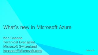 Windows Azure Overview - Microsoft Download C...