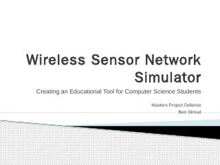 Wireless Sensor Network Simulator - UCCS