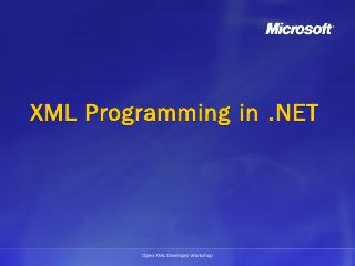 XML Programming in .NET - Microsoft Download ...