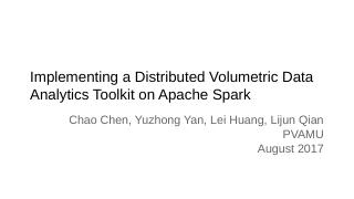 Implementing a Distributed Volumetric Data An...